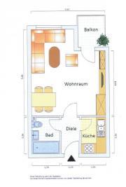 1 Raum-Wohnung