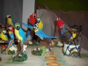 10 Papageien-Figuren