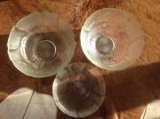 2 große Glasschalen