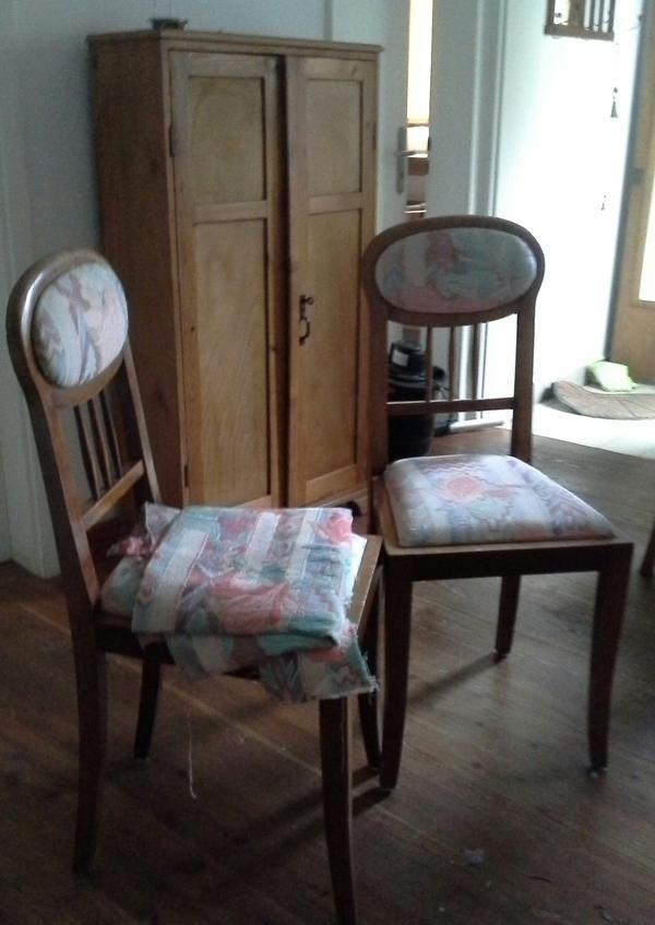 2 st hle jugendstil kirschbaum in wiesloch polster sessel couch kaufen und verkaufen ber. Black Bedroom Furniture Sets. Home Design Ideas