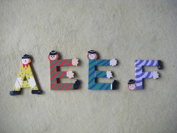 Holzspielzeug - 22 SEVI Holzbuchstaben Sevi Holzbuchstaben