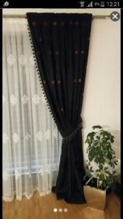 2stk. schwarze Gardine