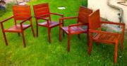 4 Designer-Gartenstühle