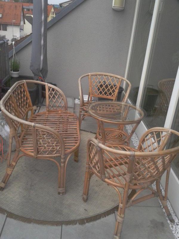 4tlg rattan sitzgruppe in m hlhausen gartenm bel kaufen und verkaufen ber private kleinanzeigen. Black Bedroom Furniture Sets. Home Design Ideas