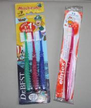 4x Kinder Zahnbürste
