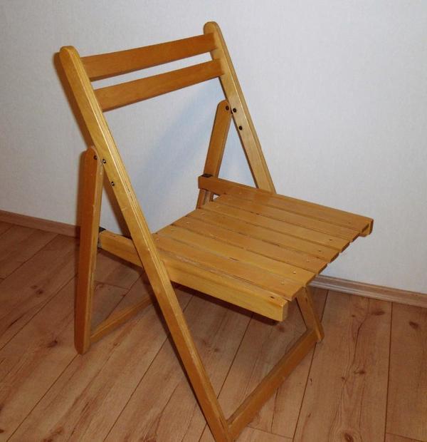 klappstuhl holz kaufen gebraucht und g nstig. Black Bedroom Furniture Sets. Home Design Ideas
