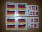 abwaschbare Tattoos - Deutschlandflagge,