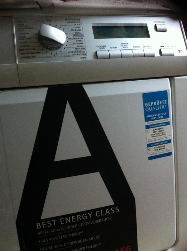aeg ko lavatherm 59840 w rmepumpentrockner kondenstrockner a in stuttgart trockner kaufen. Black Bedroom Furniture Sets. Home Design Ideas
