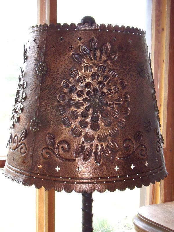 alte schmiedeeiserne stehlampe mit kupferschirm top in boddin lampen kaufen und verkaufen. Black Bedroom Furniture Sets. Home Design Ideas