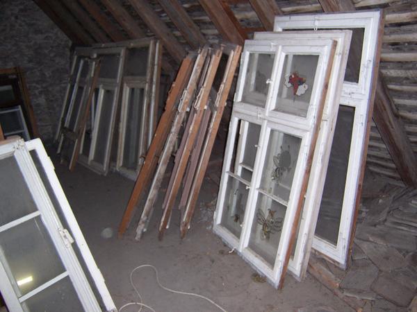 Antike holzfenster sprossenfenster mit rahmen in friesenheim sonstige antiquit ten kaufen und - Sprossenfenster alt ...