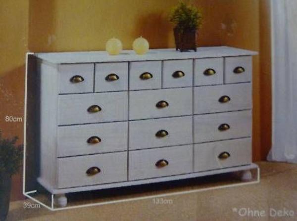 Ankleidezimmer Schrank Ikea ~ Massivholz ( Kiefer ) Apothekerschrank  Apothekerkommode komplett in