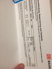 bahn ticket von