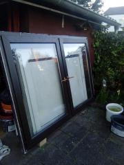 Balkontür PVC braun