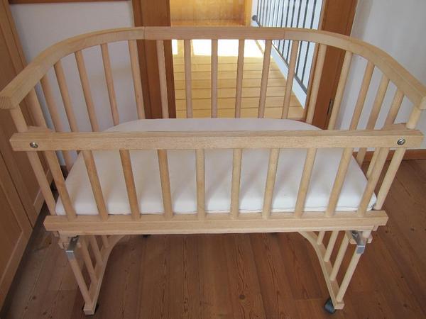 beistellbett bio von hess natur baby bay mit zubeh r in. Black Bedroom Furniture Sets. Home Design Ideas
