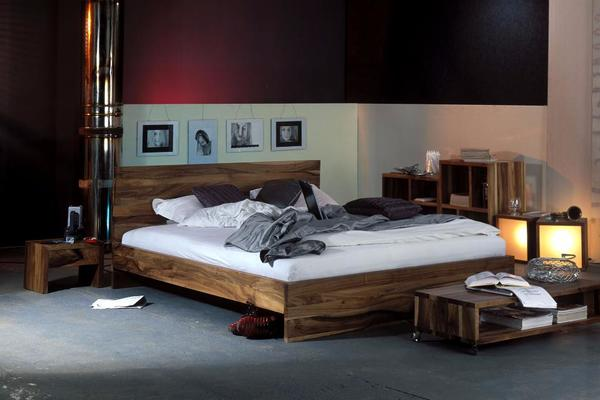 bett nussbaum massiv ancona von kontrastm bel in darmstadt betten kaufen und verkaufen ber. Black Bedroom Furniture Sets. Home Design Ideas