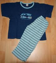 Blauer Sommer-Schlafanzug -