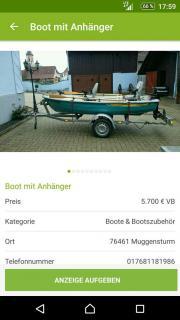 Boot mit Anhänger