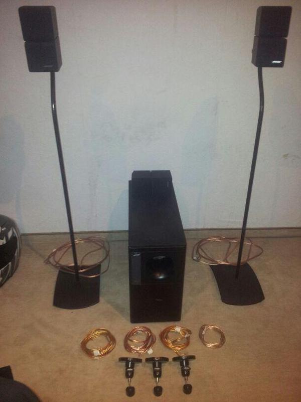bose soundsystem acoustimass 7 ufs 20 cube st nder in. Black Bedroom Furniture Sets. Home Design Ideas