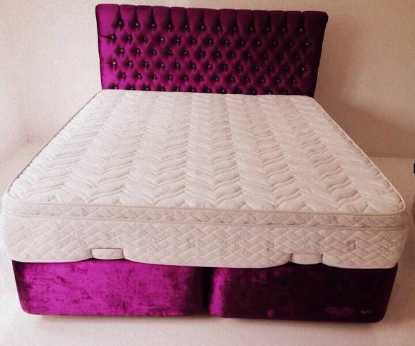 chesterfield bett 180x200 wie neu 470eur in n rnberg betten kaufen und verkaufen ber. Black Bedroom Furniture Sets. Home Design Ideas