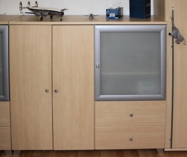 Sideboard b 130 h 111 t 42 ahorn metall nachbildung for Jugendzimmer gebraucht