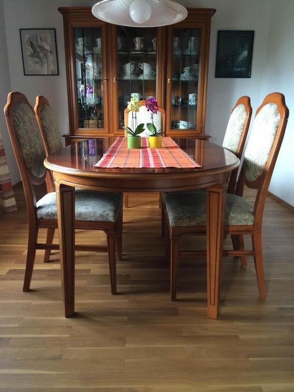 Esszimmer Kirsche Gebraucht  Kirsche Leichte Gebrauchsspuren am Tisch