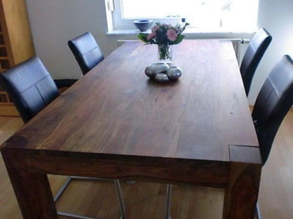 Esszimmer tisch palisander massivholz ge lt 2m x 1m in for Palisander tisch