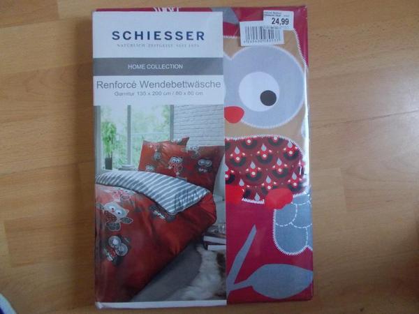 ich biete hier noch original verpackte eulen wende bettw sche von schiesser in 135 x 200 cm an. Black Bedroom Furniture Sets. Home Design Ideas
