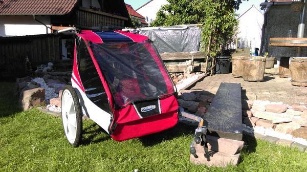 fahrradanh nger chariot caddie 2 sitzer f r 350 eur. Black Bedroom Furniture Sets. Home Design Ideas