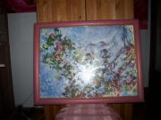 Farbenfrohes gerahmtes Wandbild (