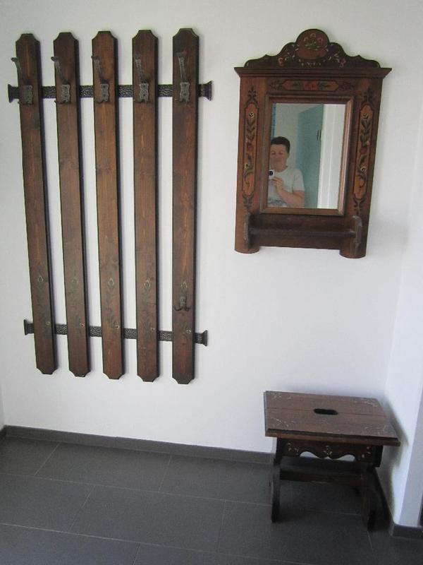 Garderobe voglauer anno 1800 braun massivholz 3 teilig in for Garderobe voglauer