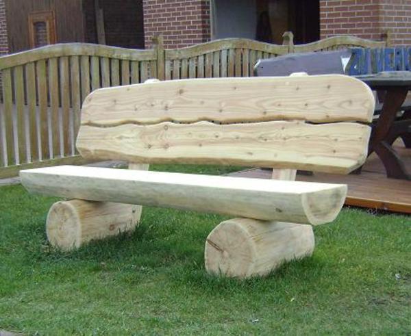 Massive Holzbank mit genial design für ihr haus design ideen