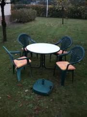 Gartentisch, Gartenstühle u.