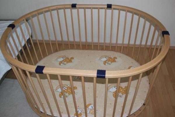 geuther baby parc laufstall oval in tigheim laufst lle hochst hle zubeh r kaufen und. Black Bedroom Furniture Sets. Home Design Ideas