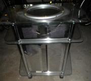 Glas-Fernseh- Tisch