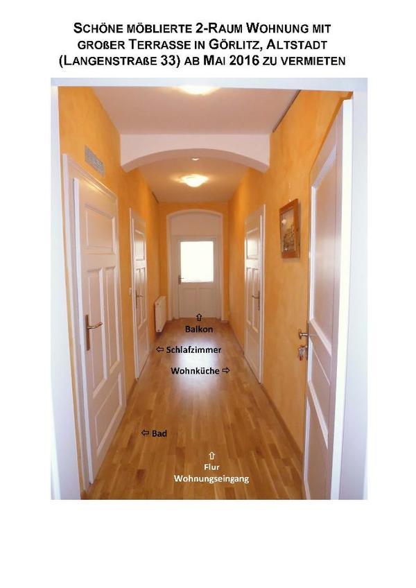 g rlitz altstadt m bl 2 raum wohnung m gr terrasse zu vermieten vermietung 2 zimmer. Black Bedroom Furniture Sets. Home Design Ideas