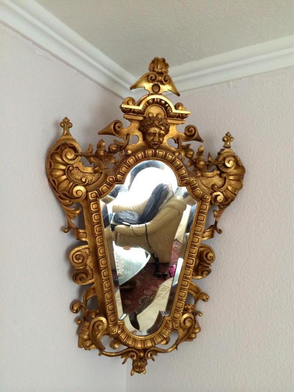 goldener barock spiegel in karlsruhe sonstige. Black Bedroom Furniture Sets. Home Design Ideas
