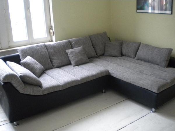 gro es ecksofa schwarz grau in darmstadt polster sessel couch kaufen und verkaufen ber. Black Bedroom Furniture Sets. Home Design Ideas