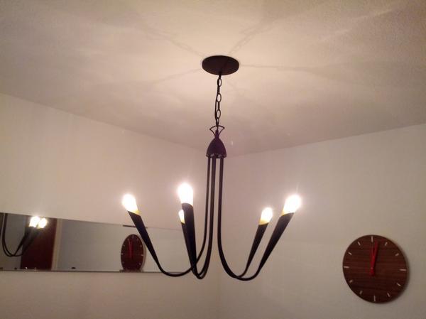 h ngeleuchte esszimmer wohnzimmer braun gelb in esslingen. Black Bedroom Furniture Sets. Home Design Ideas