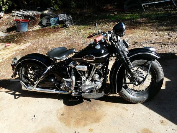 harley davidson knucklehead 1942. Black Bedroom Furniture Sets. Home Design Ideas