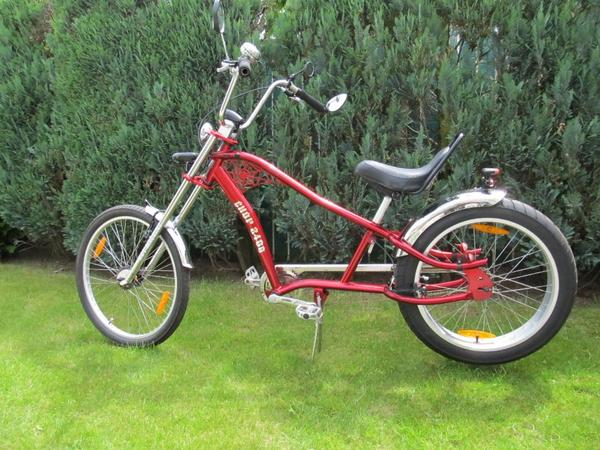herren chopper bike fahrrad cruiser rot unikat spider. Black Bedroom Furniture Sets. Home Design Ideas