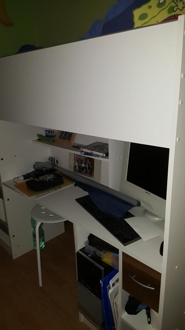 hochbett integriertem schrank schreibtisch die neuesten innenarchitekturideen. Black Bedroom Furniture Sets. Home Design Ideas