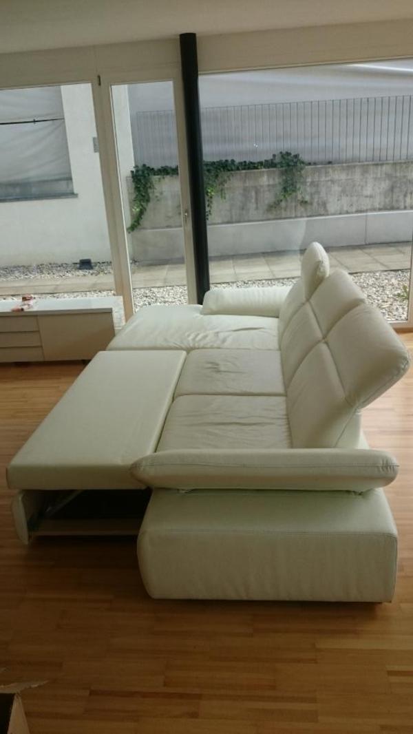 hochwertige ledercouch mit schlaffunktion in klaus. Black Bedroom Furniture Sets. Home Design Ideas