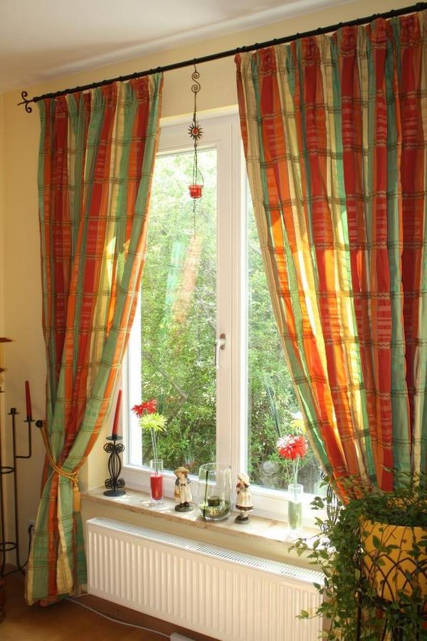 hochwertiger vorhang dekoschal gardinenstoff f r 4 fenster. Black Bedroom Furniture Sets. Home Design Ideas
