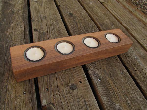 Holz kerzenst nder teelichthalter nu baum adventskranz for Dekoartikel holz