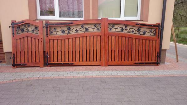 holztor typ premium in stalowa wola sonstiges f r den garten balkon terrasse kaufen und. Black Bedroom Furniture Sets. Home Design Ideas