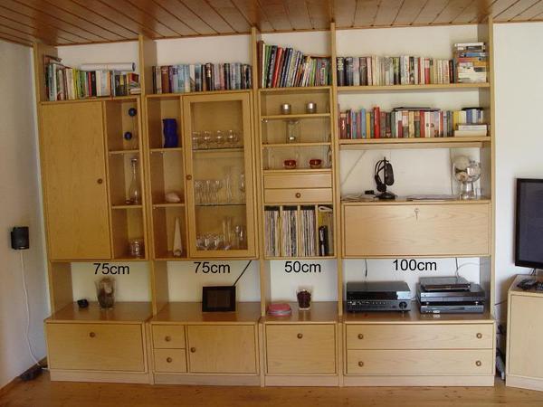 h lsta wohnwand esche in landau wohnzimmerschr nke anbauw nde kaufen und verkaufen ber. Black Bedroom Furniture Sets. Home Design Ideas