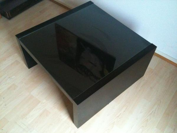 ikea couchtisch expedit braun schwarz mit glasplatte in. Black Bedroom Furniture Sets. Home Design Ideas