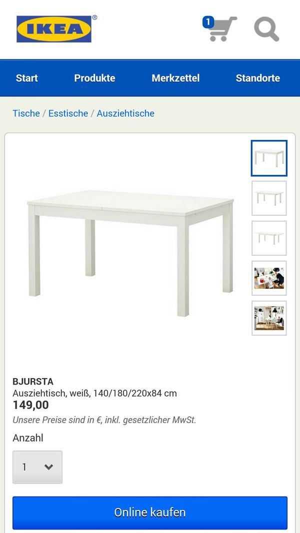 Ikea Patrull Klamma Safety Gate ~ IKEA Esstisch BJURSTA in Ludwigshafen  IKEA Möbel kaufen und