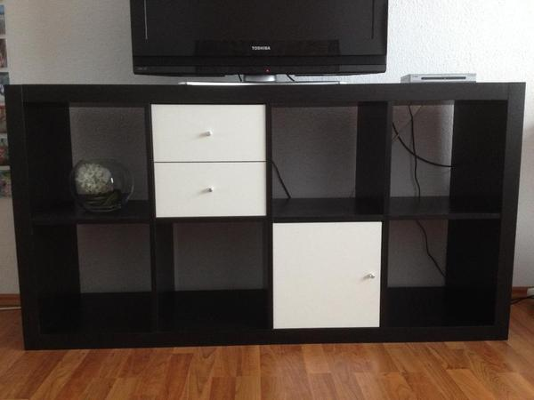 ikea schreibtisch expedit mit regal. Black Bedroom Furniture Sets. Home Design Ideas