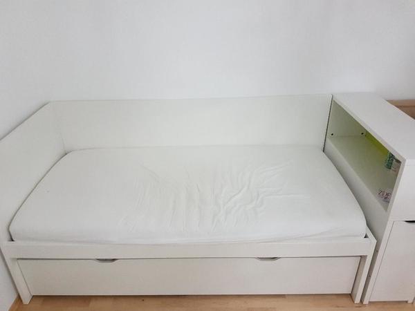 Einzelbett weiß ikea  De.pumpink.com | Wohnzimmer Gardinen Weiß Grau